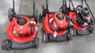 TROY BILT LAWN MOWERS ( QTY. 3)