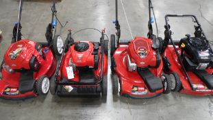 TORO LAWN MOWERS (QTY. 4)