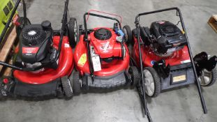 TORO & TROY BILT LAWN MOWERS (QTY. 3)