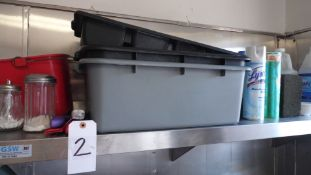 STAINLESS STEEL SHELF w/ DISHES