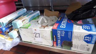 TRASH BAGS / WAX PAPER