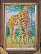 """THE NEW ARRIVAL 22"""" X 32"""" OIL SIGNED"""