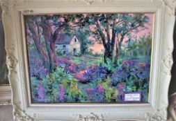 """COUNTRY CHARM 18"""" X 24"""" OIL SIGNED"""