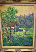 """WILDFLOWERS DELIGHT 18"""" X 24"""" OIL SIGNED"""