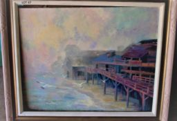 """CANNERY ROW 24"""" X 30"""" OIL SIGNED"""
