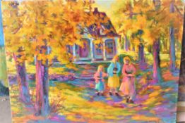 """GOING TO SCHOOL 22"""" X 28"""" SIGNED"""