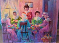 """THE GATHERING 30"""" X 24"""" SIGNED"""