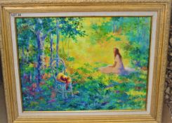 """DAY DREAMS 18"""" X 24"""" OIL SIGNED"""