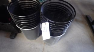 ASSORTED TRASH CANS