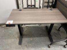 GREY ELECTRIC ADJUSTABLE TABLE 47X24