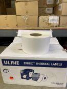 U.LINE 4X6 THERMAL LABEL CASES S-8374