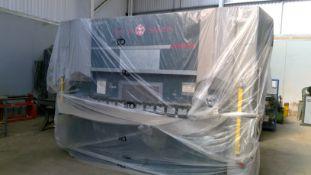 Axe & Status Durma AD-S-30/100 100 TON X 3M Pressbrake with Cyberlec MOD Eva 10S CNC Controls, SIK C