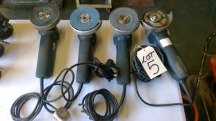 4 x Assorted Bosch 240v Angle Grinders