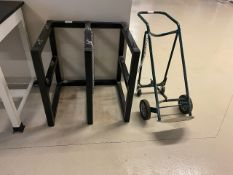 Cylinder holding cage and dolly