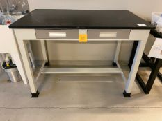Lab  Bench Epoxy Top with two Drawers