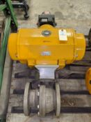"Habonim 4"" Pneumatic Acuated Ball Valve"