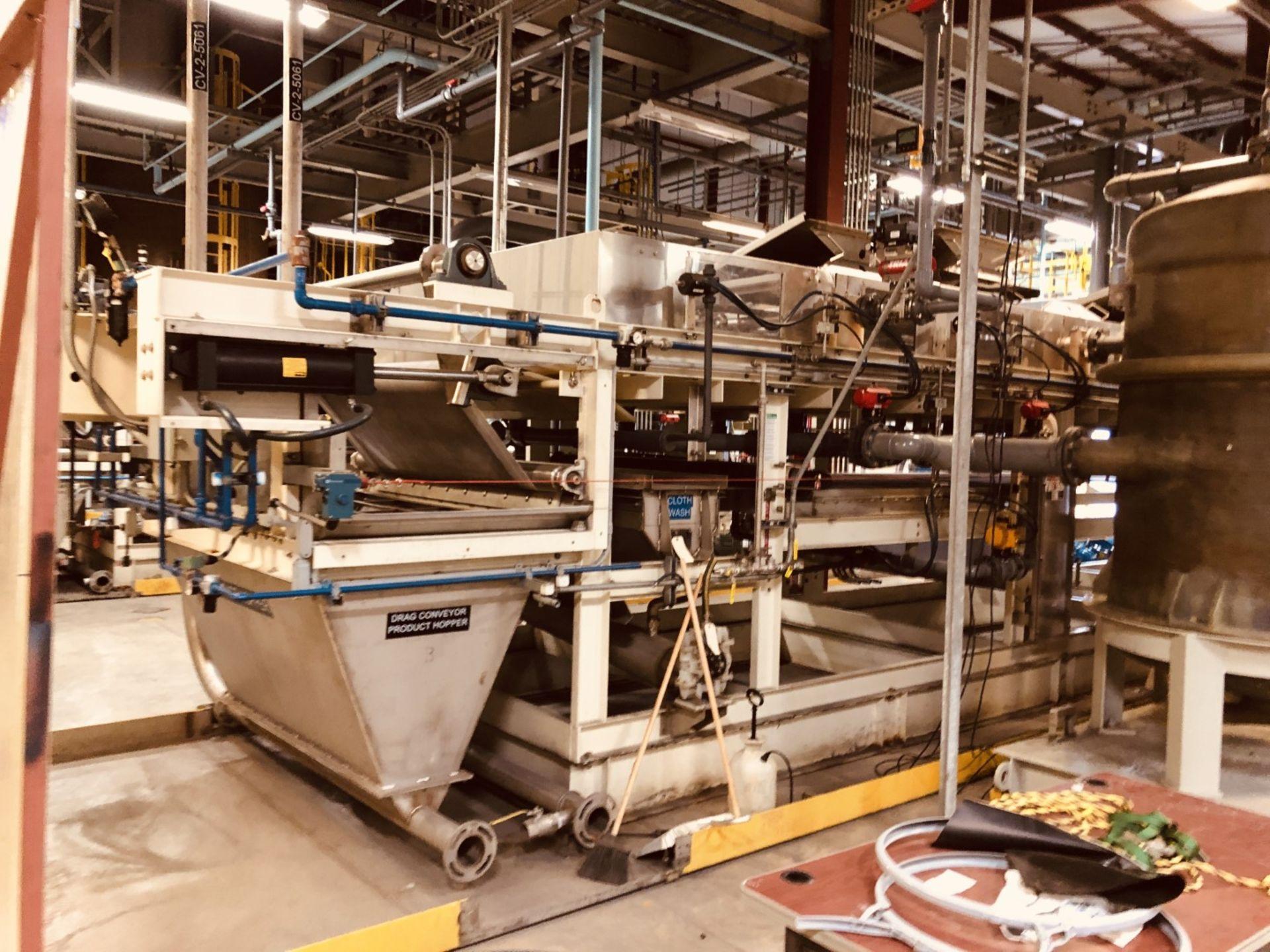 Komline Sanderson Model CIX HVF 1.25x9.75m 11.25 Sq Meter Horizontal Belt Vacuum Filter - Image 9 of 14
