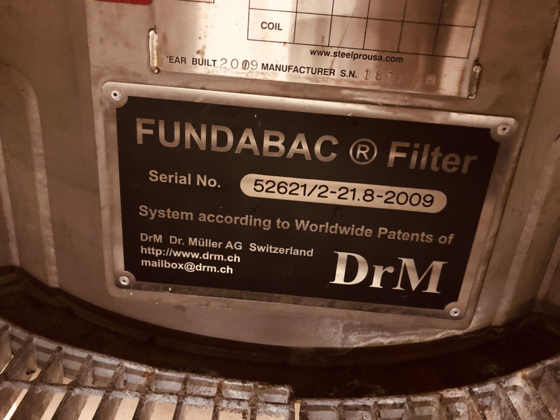 Dr. M Model R-021.8-42-2000/T130Z 21.8 Sq Meter(234 sq ft) Fundabac Candle Filter - Image 5 of 5