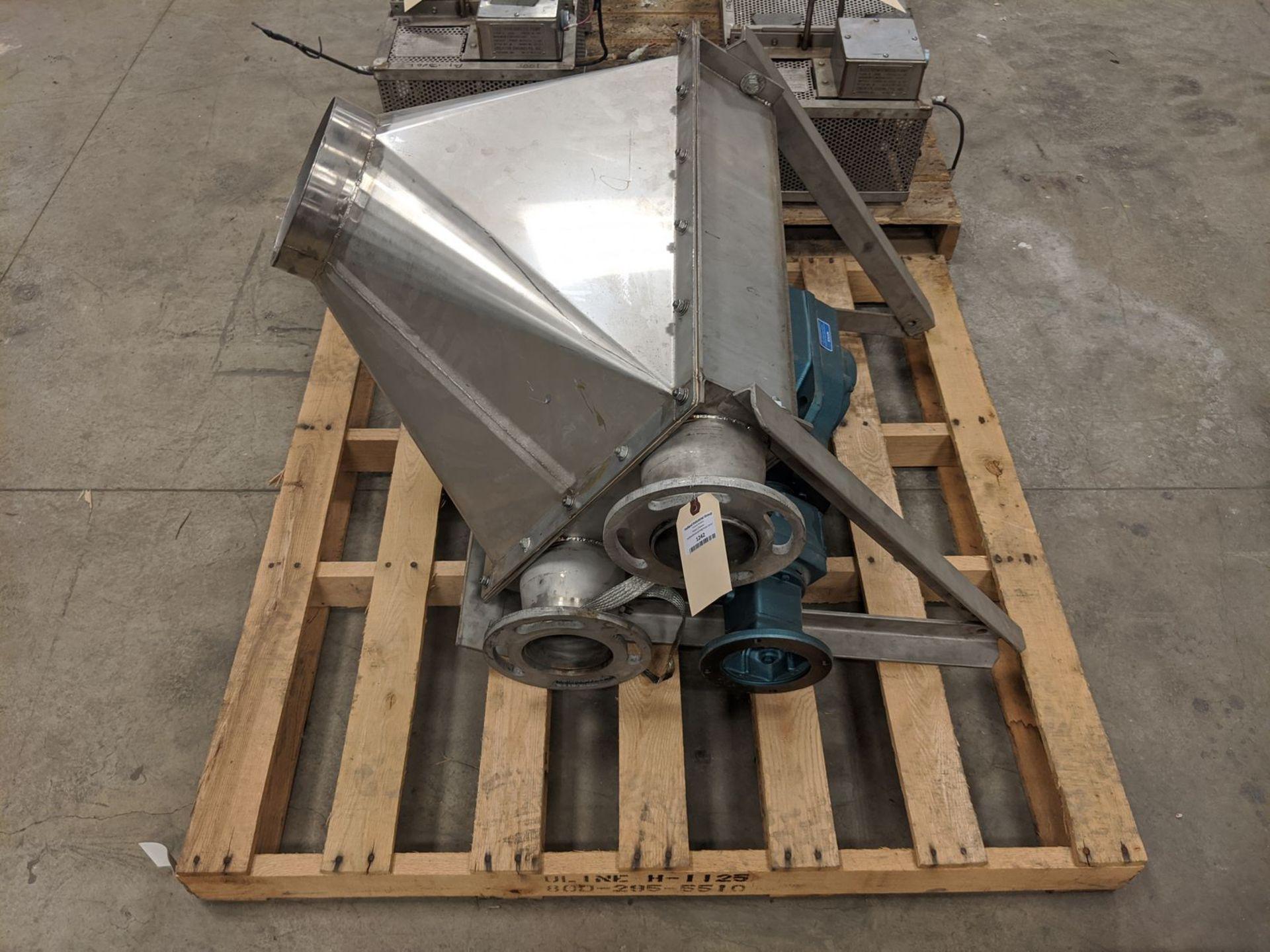 "Hapman Model H12230-C0 4"" Tube (Drag) Conveyor Hopper Gear Section"