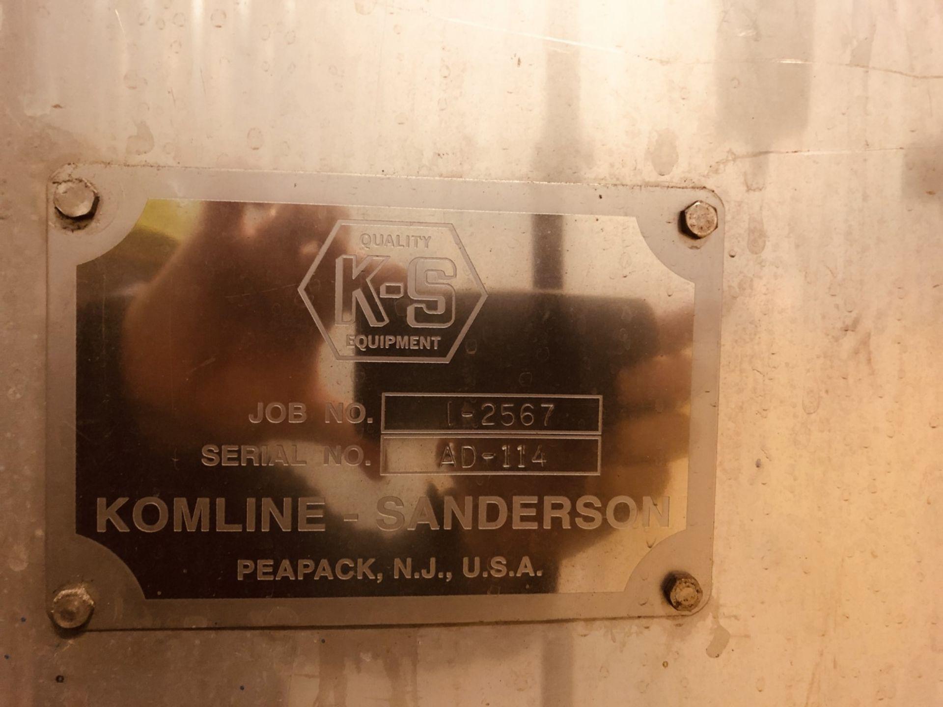 Komline Sanderson Model CIX HVF 1.25x9.75m 11.25 Sq Meter Horizontal Belt Vacuum Filter - Image 14 of 14