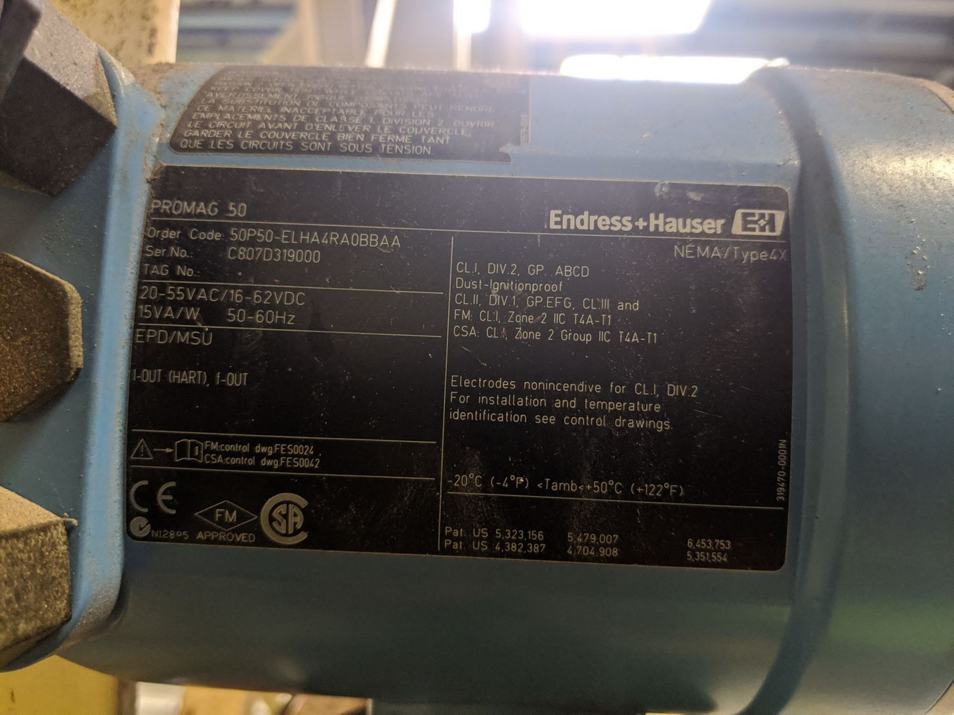 Endress+Hauser Model Promag 50 Electromagnetic Flowmeter - Image 2 of 2