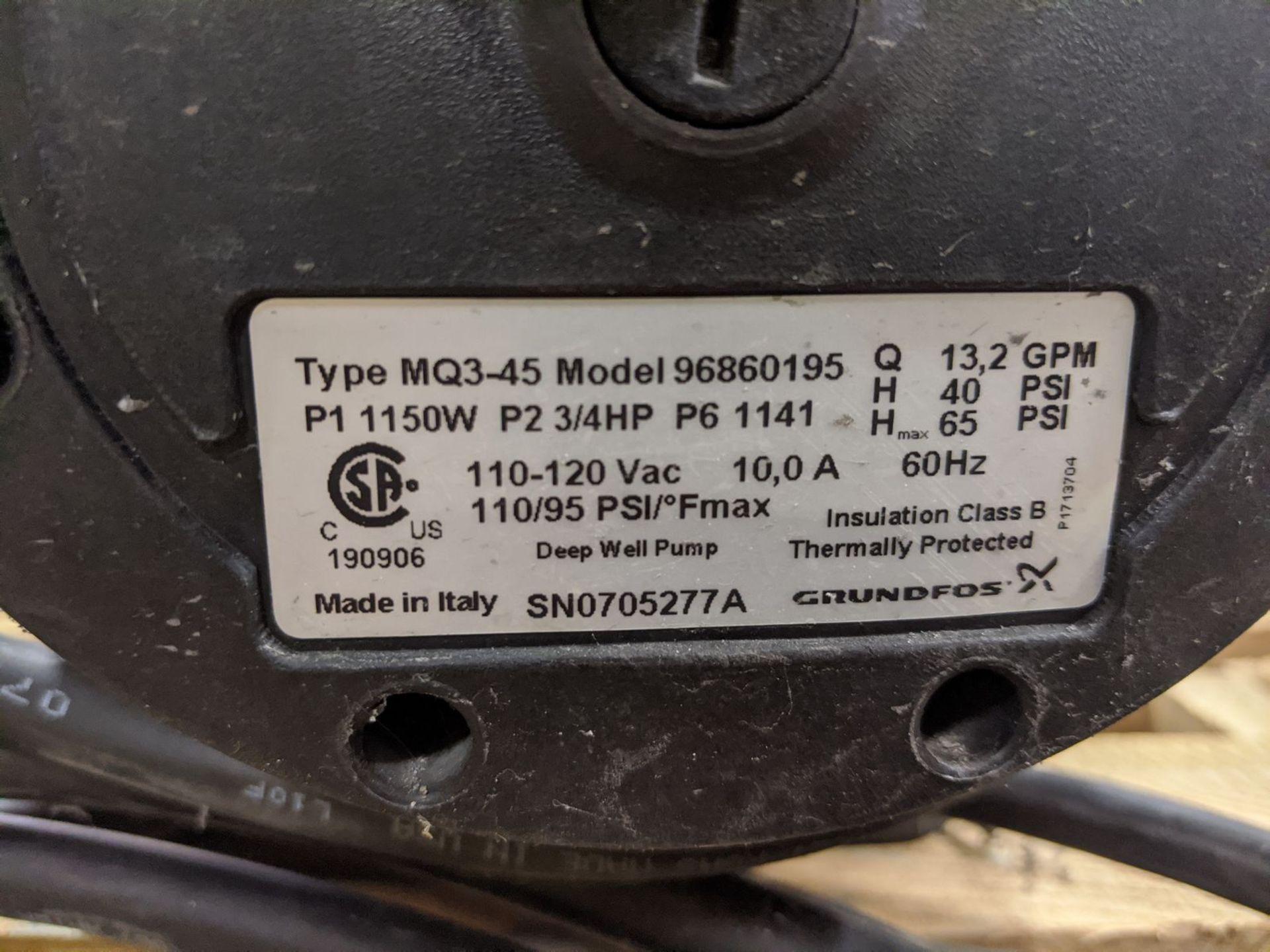 Grundfos Model MQ3-45 Deep Well Pump - Image 2 of 2