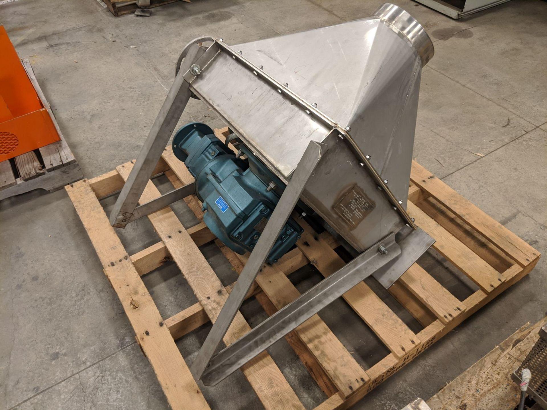 "Hapman Model H12230-C0 4"" Tube (Drag) Conveyor Hopper Gear Section - Image 2 of 6"