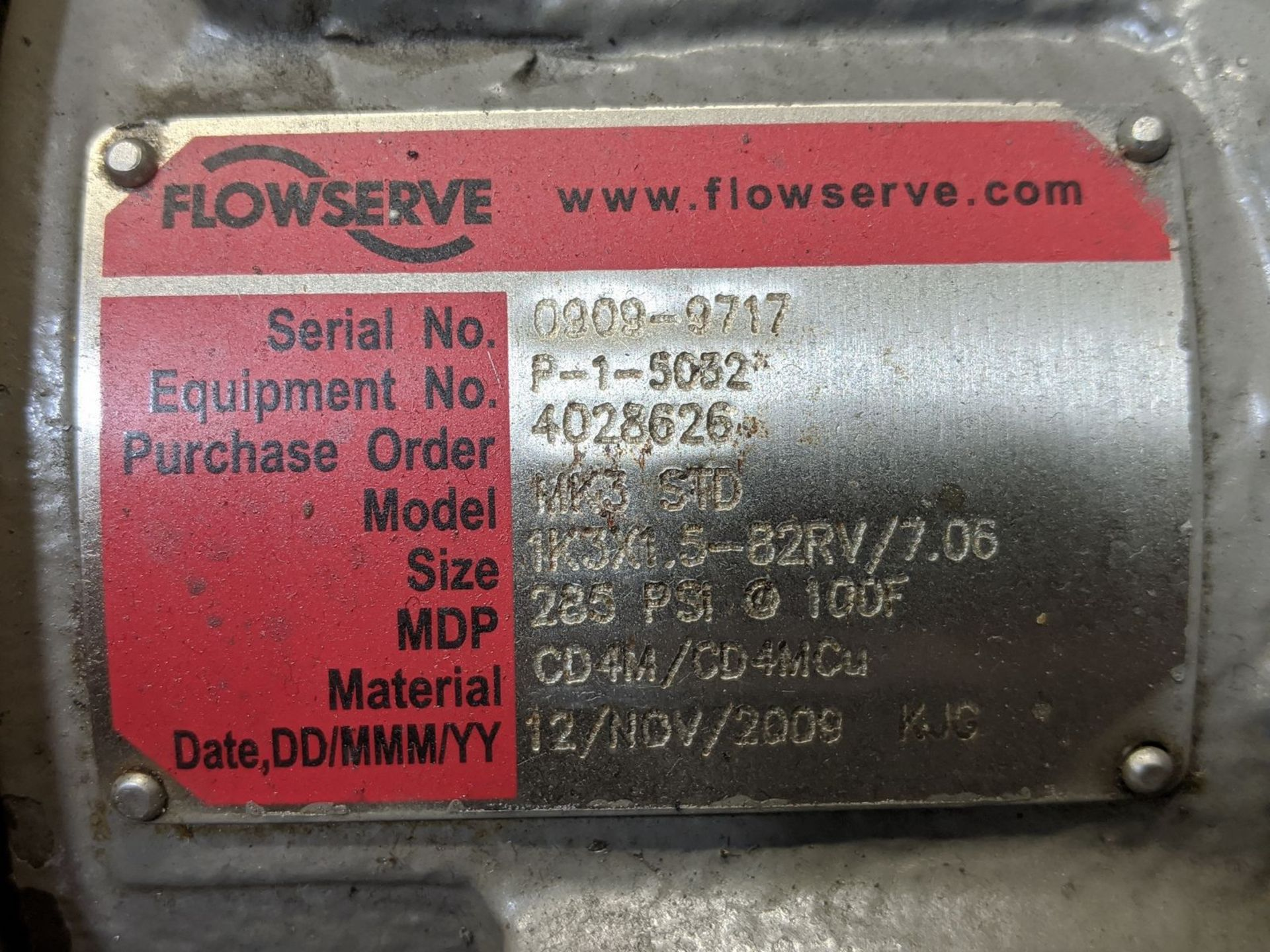 Flowserve Model MK3STD 15 HP Centrifugal Pump - Image 2 of 3