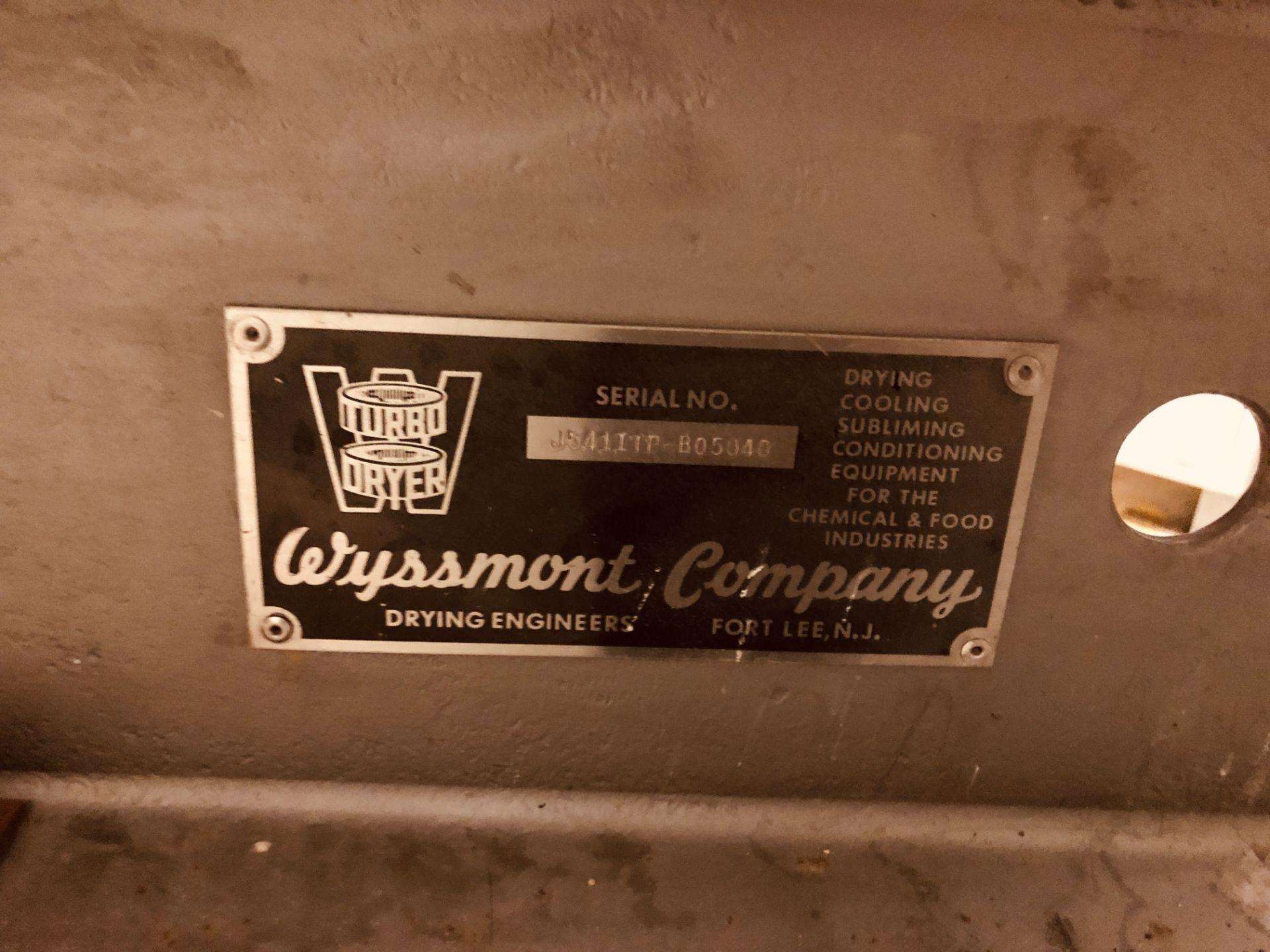 Wyssmont Model OE-32 Turbo Dryer - Includes Blower & Rotary Air Locks - Image 3 of 6