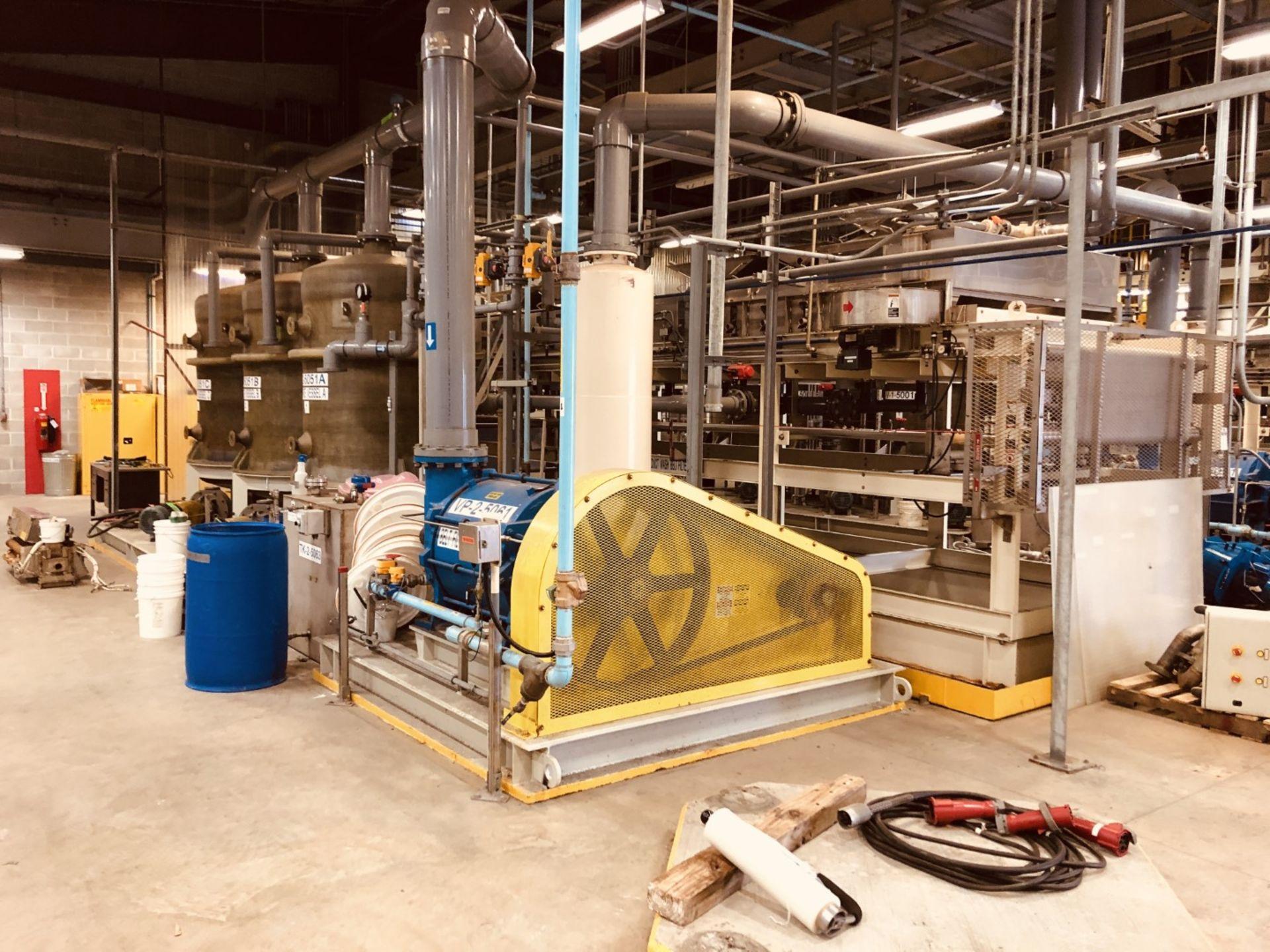 Komline Sanderson Model CIX HVF 1.25x9.75m 11.25 Sq Meter Horizontal Belt Vacuum Filter - Image 3 of 14