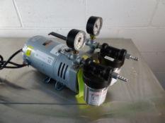 Fisher Scientific Vacuum Pump With GE 1/4 HP Motor