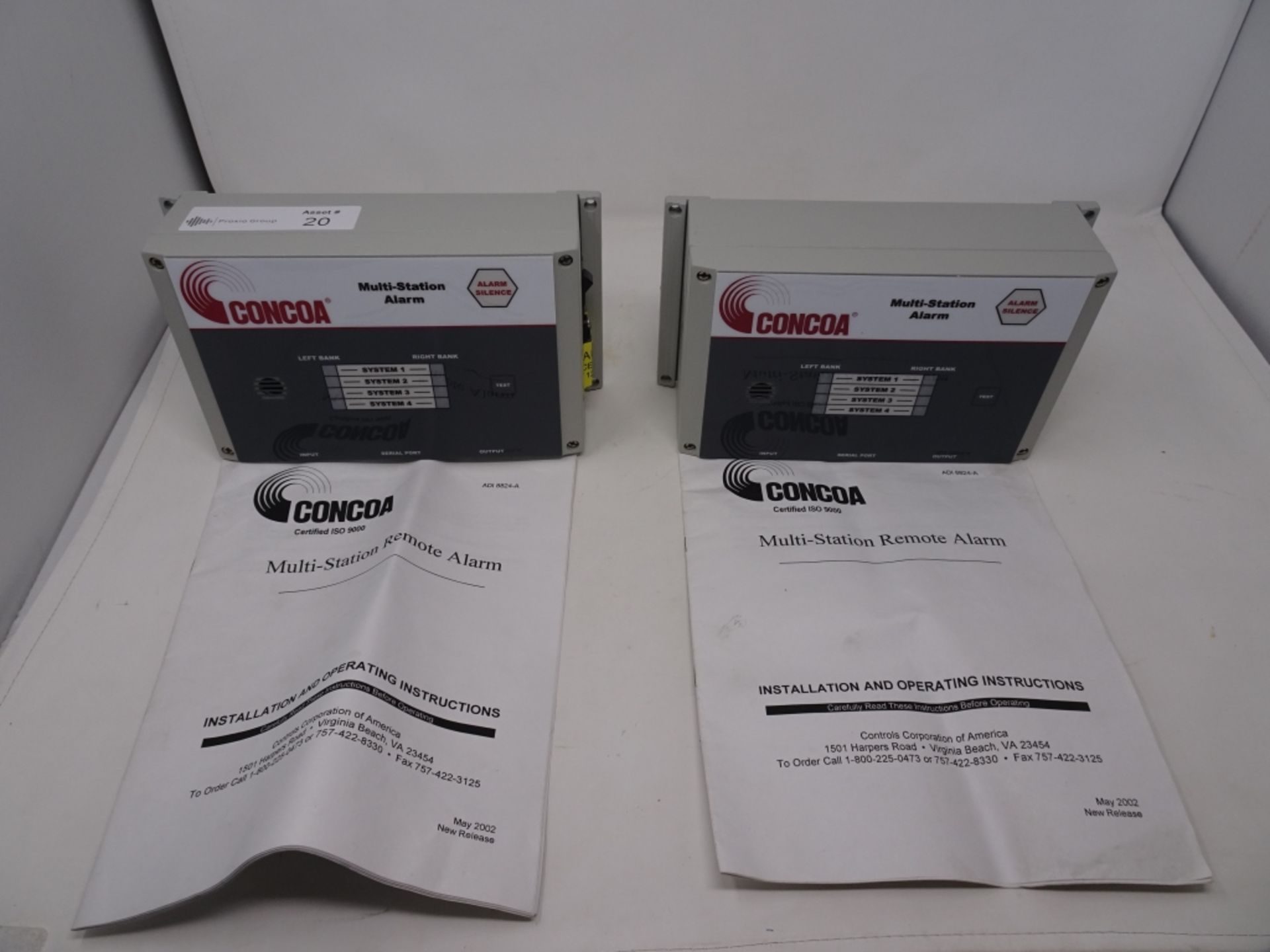 (2) Concoa Model 529 5310 Multi Station Manifold Alarm Systems