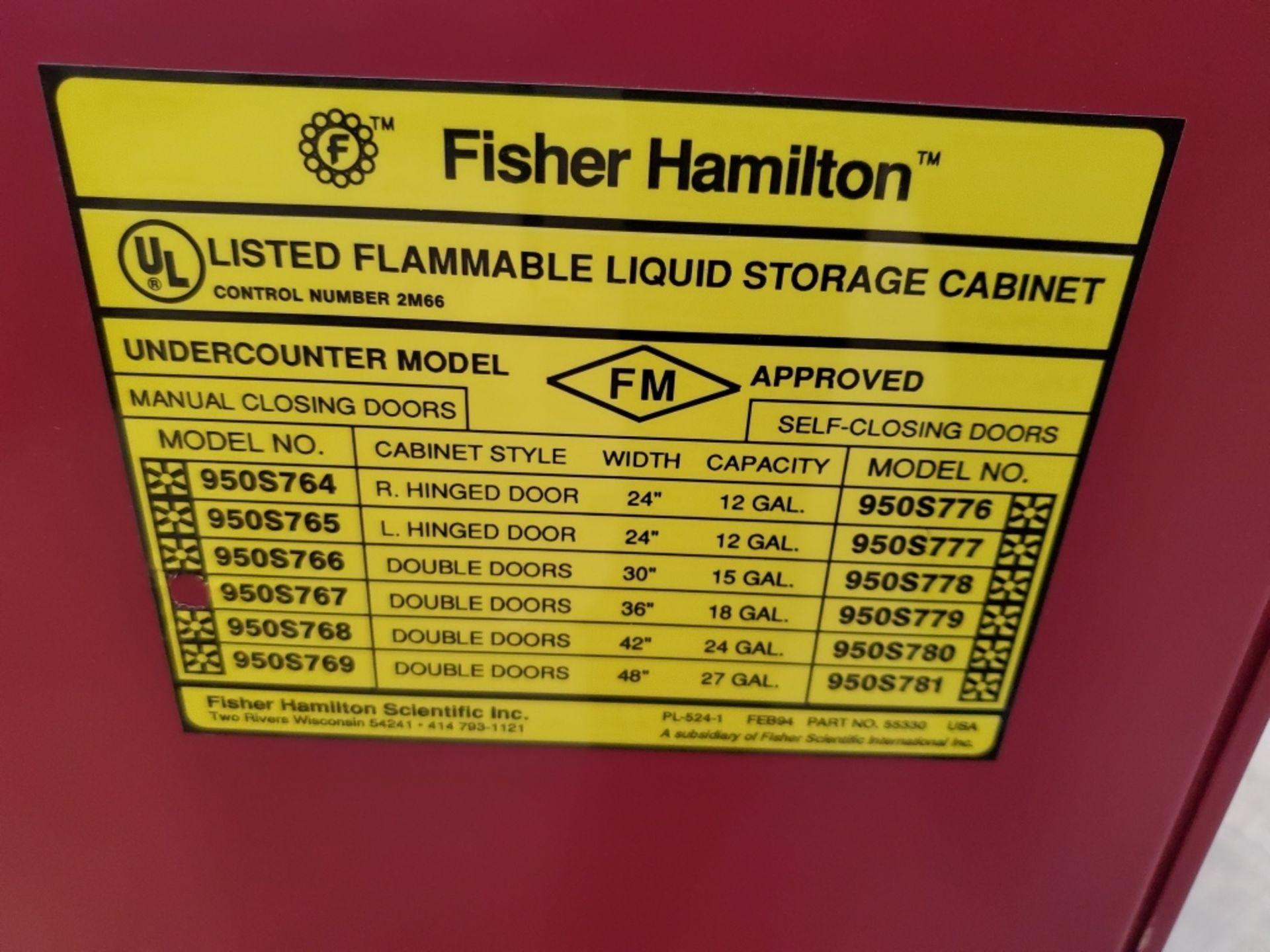 Fisher Hamilton 18Gal 2-Door Flammable Cabinet - Image 4 of 5