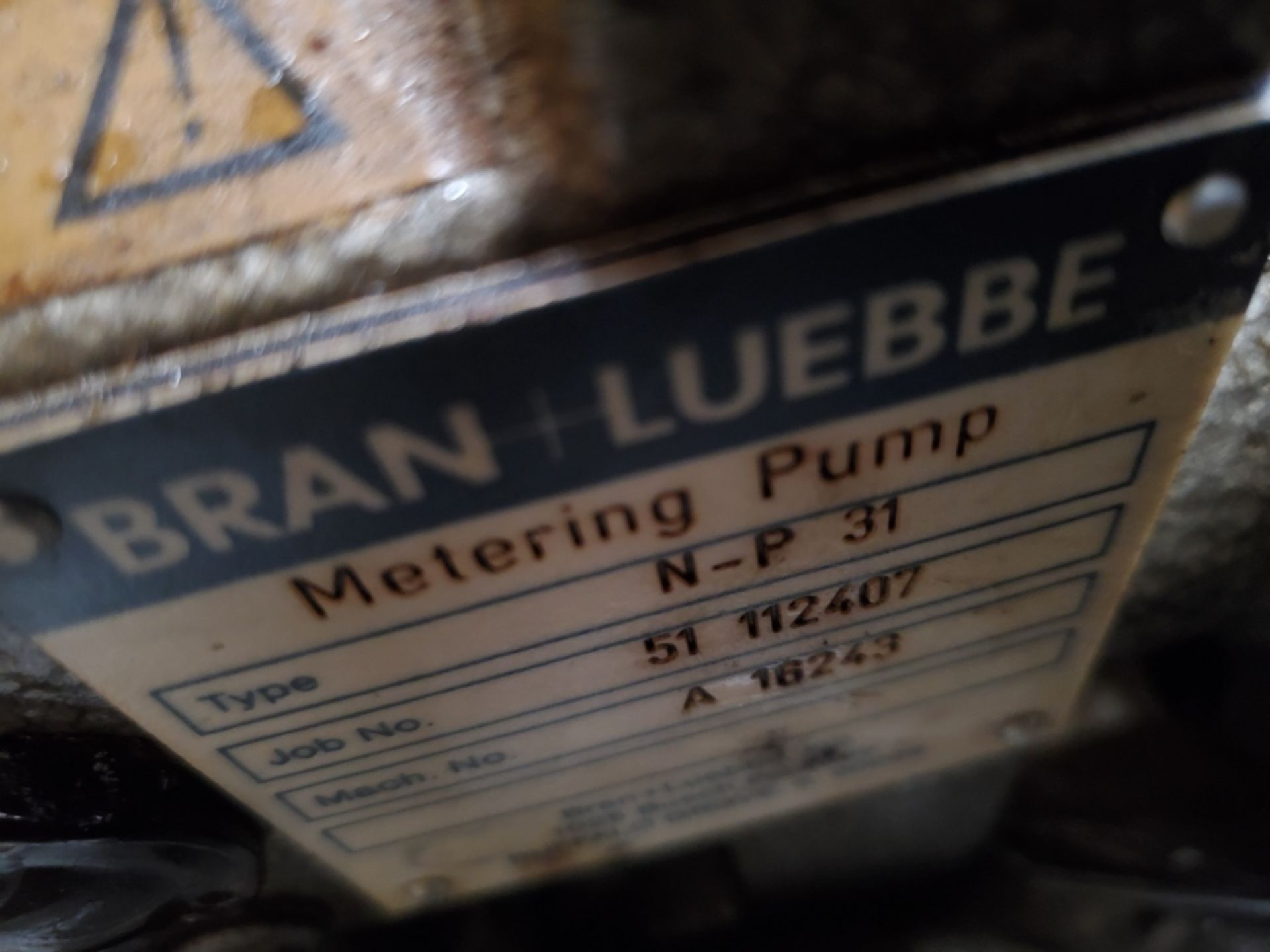 Bran Luebbe Model N-P 31 Metering Pump - Image 5 of 6