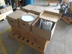 Skid of Cleveland Steel Container Steel Pail Lids
