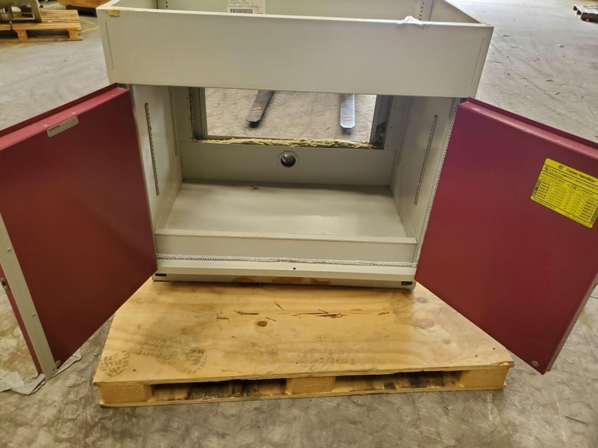 Fisher Hamilton 18Gal 2-Door Flammable Cabinet - Image 2 of 5