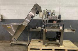"Kaps-all Model A Capper sn 2246 w/ 90"" Conveyor, (1) Feed Systems Model FSRF-24 24"" Laboratory"