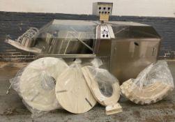 "DT Industries Kalish Kalisort Model 7399 Rotary Bottle Unscrambler/Cleaner For 30"""" Cleaning"