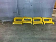 (4) Vestil XL 2' Wide 2-Step Work Platform (1) Cotterman Work Platform