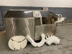 "Kalish Model 7410 Rotary Bottle Unscrambler / Bottle Cleaner Setup For 26"" Cleaning Tunnel, w/"