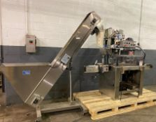 """Kaps-All Packaging System Model A-2 Capper sn 32490 w/ Approx 24"""""""" dia Laboratory Feeder Bowl w/"""