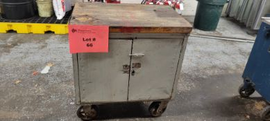 2-Door Castered Roll-A-Way Tool Box w/ Contents