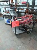 (3) 2-Tier Carts & (1) Cabinet
