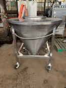 """United Utensil Tote Bin, 16 Cubic Feet, 304 Stainless Steel Construction. Approximately 52"""""""