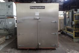 Used - Despatch Pass Thru Cart Oven, Model GWB*78X150X50, Stainless Steel Construction.