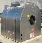 """Glatt Drum Coater, Model GC-X-1500, 316 Stainless Steel. 60"""" diameter x 55"""" deep pan with 23-1/2"""""""