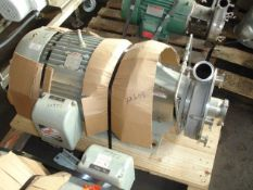 """Fristam Centrifugal Pump, Model FP3552-230, Stainless Steel construction, 3"""" x 2.5"""" sanitary inlet/"""