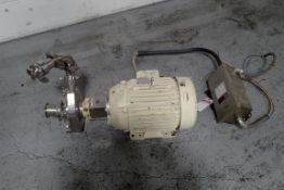 """Fristam Centrifugal Pump, Model 742-180, 2.5"""" x 2"""", Stainless Steel Construction. Direct coupled 15"""