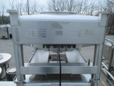GEI Tote Bin, 14 Cubic Feet, Sanitary Stainless Steel.