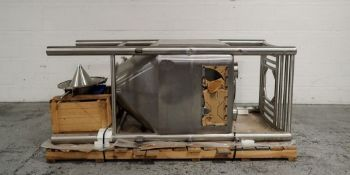 Matcon Storage Bin, Stainless Steel Construction. Cone bottom with valve discharge. Serial# 1297.